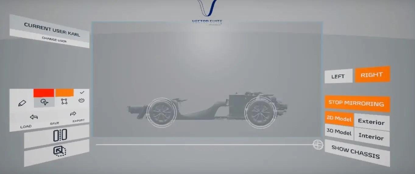 Maclaren VR Car Body Design