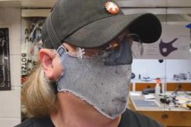Eye Protected Dust Mask