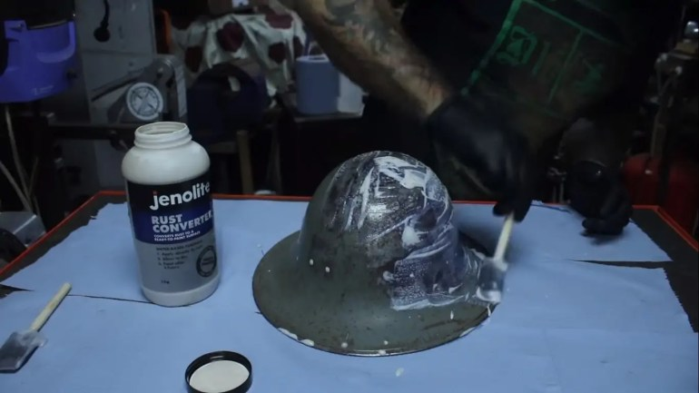 WW2 Helmet Restoration