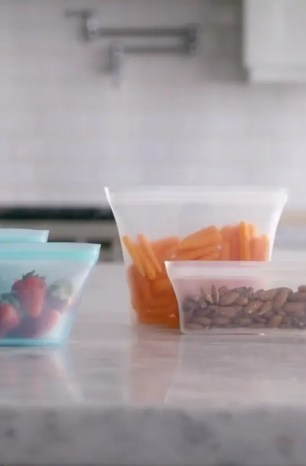 Brilliant Use of Material: The Zip Top Resealable Silicone 'Plastic Bags'