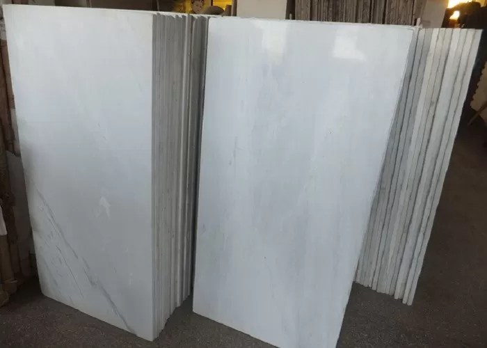 pure white polished marble floor tiles