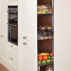 Tall Kitchen Larder Units Amp Storage Cabinets Solid Wood Kitchen Cabinets