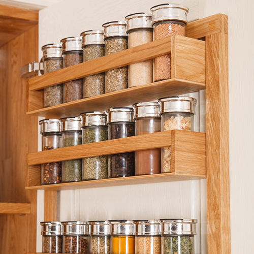 solid oak spice rack solid wood kitchen cabinets