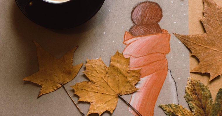 Creatief met pastel: herfst, koffie en een sjaal alsjeblieft!
