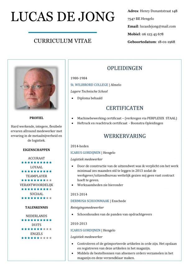CV Voorbeeld Chesterfield