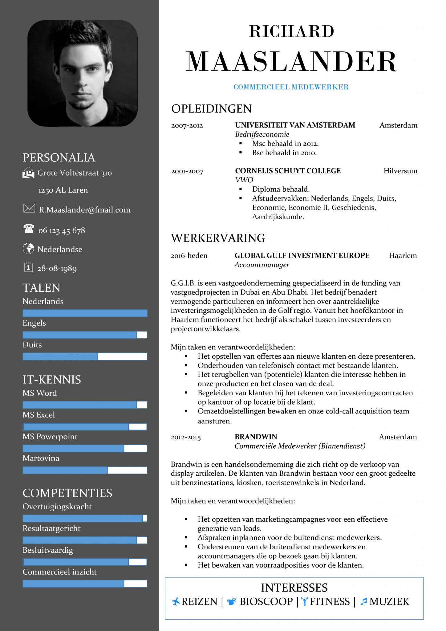 6 cv in english template theorynpractice