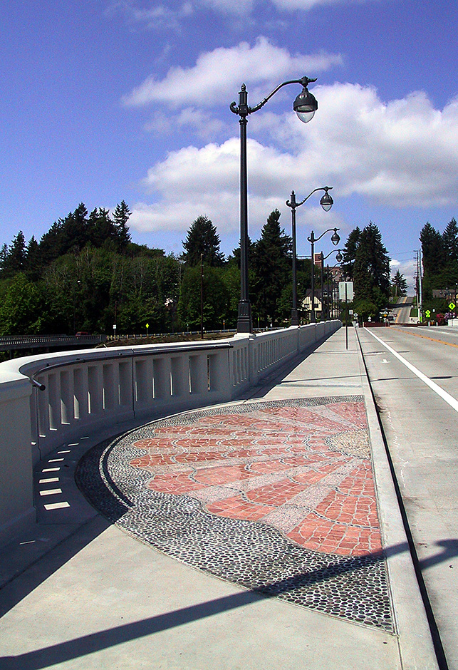 Olympia-Yashiro Friendship Bridge mosaic overlook