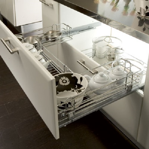 undersink pull out wire basket set for 800 1000 mm cabinet width