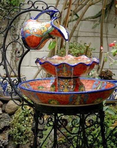 Yard Décor: the Beauty of a Mexican Water Fountain ... on Mexican Backyard Decor id=97897