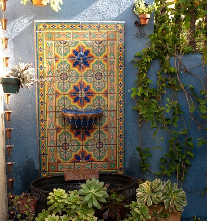 Yard Décor: the Beauty of a Mexican Water Fountain ... on Mexican Backyard Decor id=98672