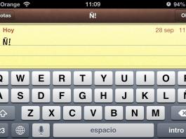 Poner tecla Ñ en el teclado de iPhone