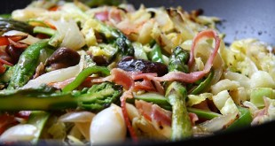 Delicioso salteado de verduras y setas
