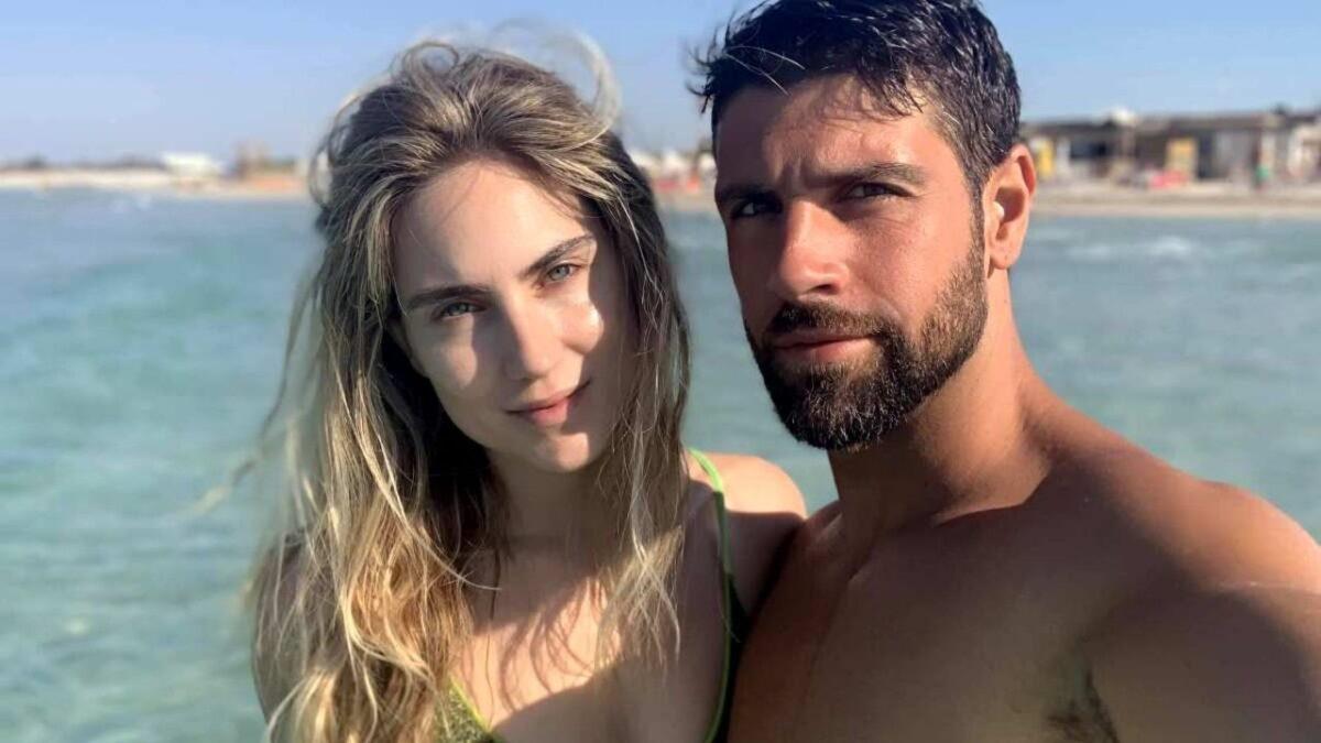 Gilles-Rocca-and-Miriam-Galanti-at-the-sea