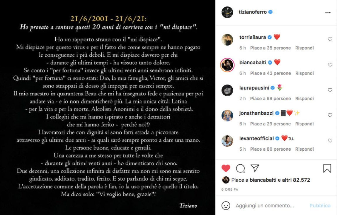 Tiziano ferro 20 years career