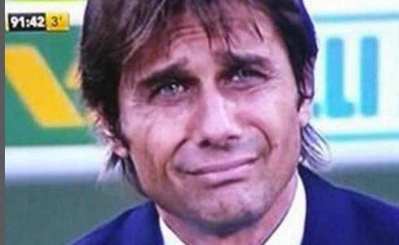 La faccia di Conte nei minuti di recupero a Firenze