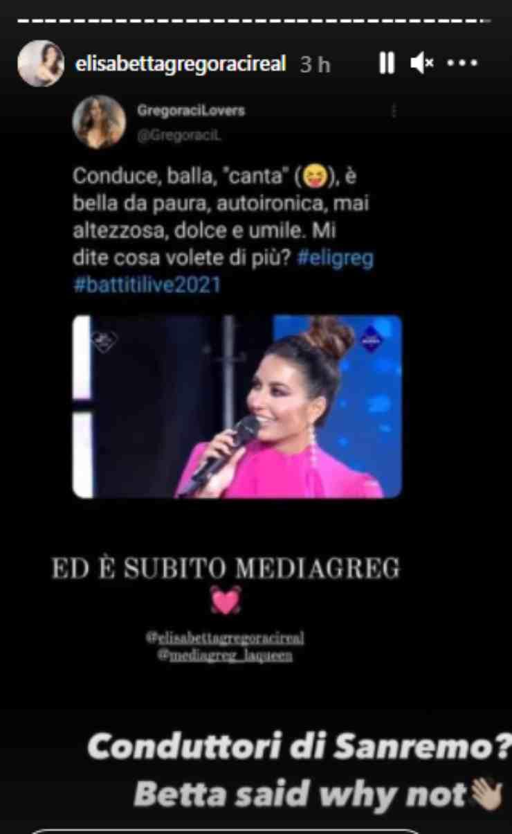 Elisabetta Gregoraci Sanremo