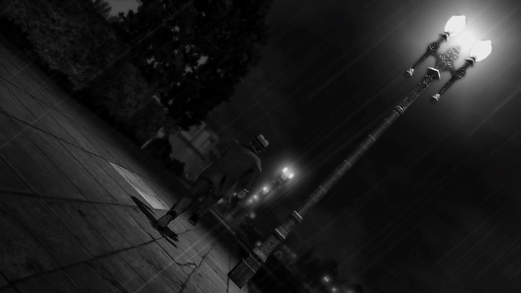 La Noire con filtro en blanco y negro