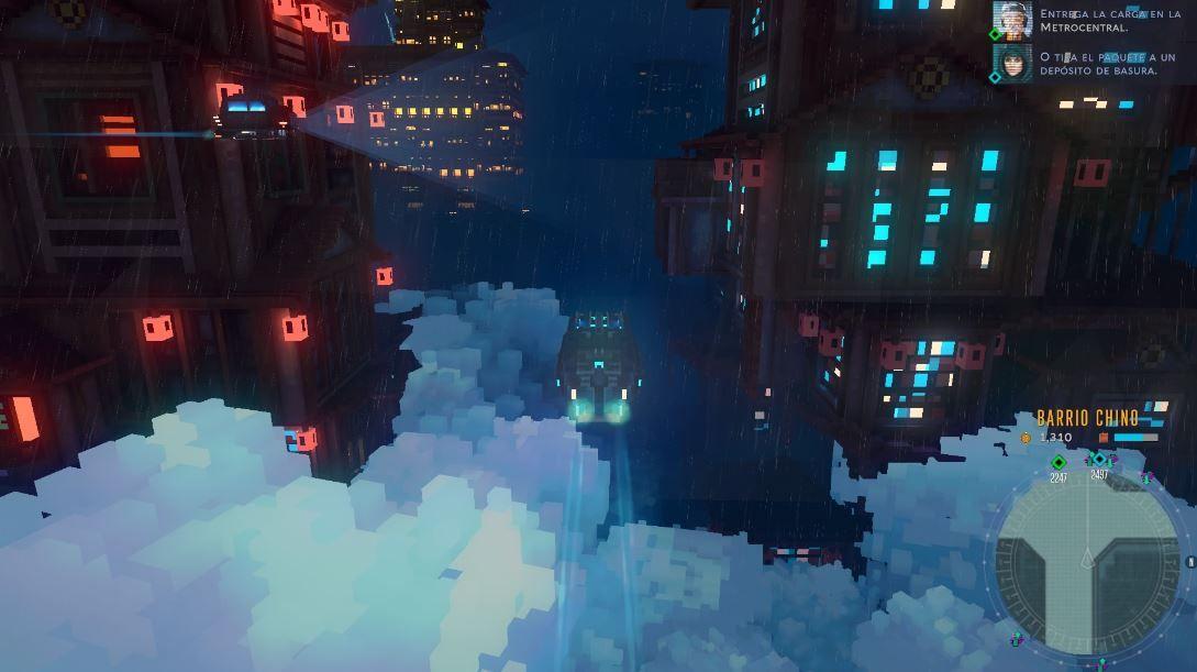 Cloudpunk-screenshots-resena-nubes-carretera