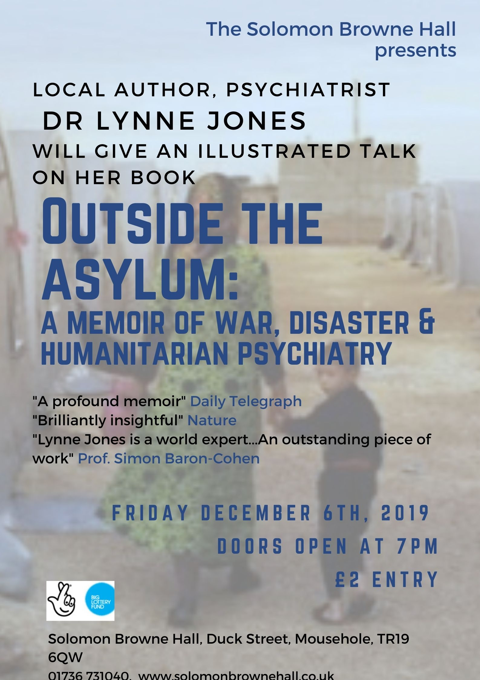 Dr Lynn Jones - Talk and Q&A