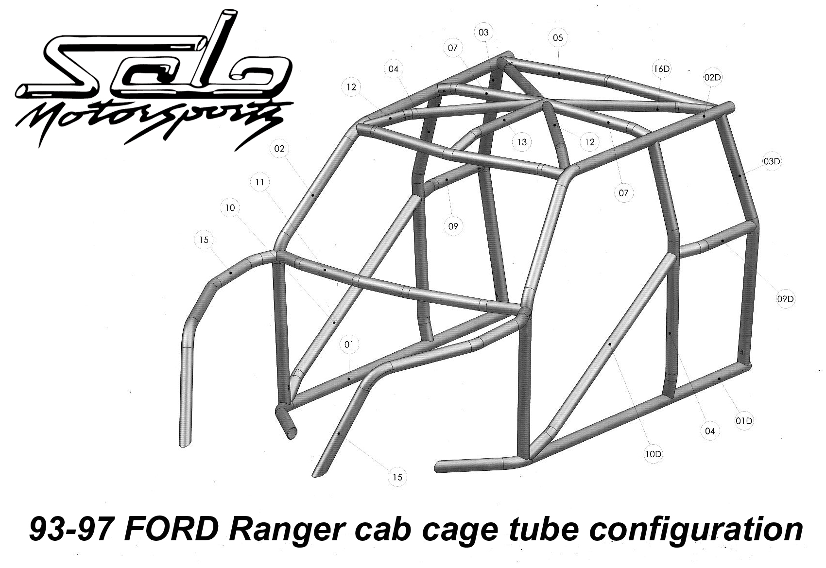 Ford Ranger Race Legal Roll Cage