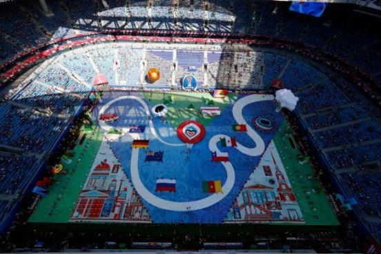 Poco publico en la inauguración de la Copa Confederaciones