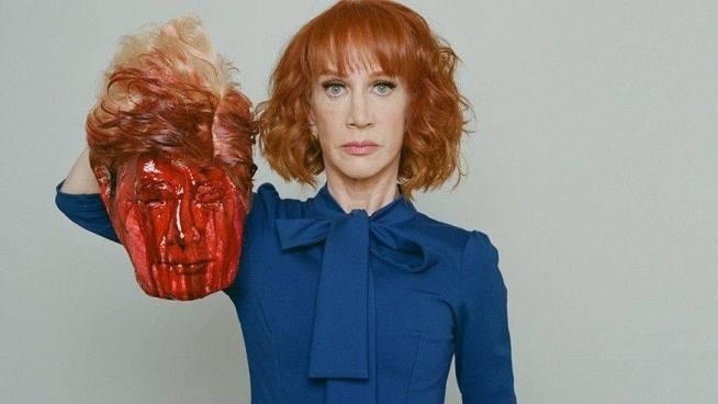 La actriz Kathy Griffin causa polémica por la foto de Donald Trump 'decapitado'