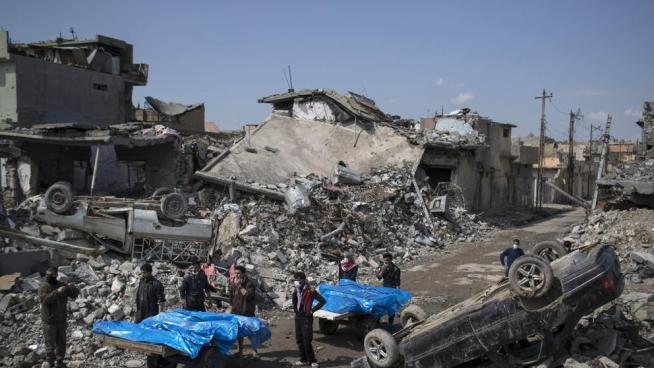 105 civiles murieron en Mosul en ataque estadounidense de Marzo