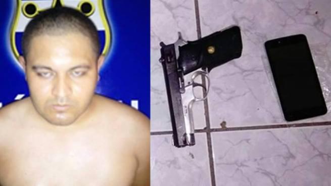 """Capturan al """"Agresivo"""" cabecilla de una clica de la Mara Salvatrucha en San Miguel"""