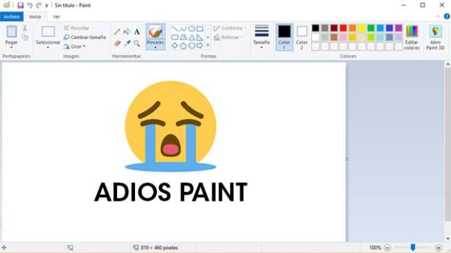 Microsoft anuncia el final de Paint tras 32 años