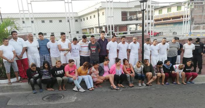 Capturan a 28 miembros de una estructura criminal en Chalatenango