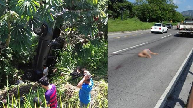 Tres personas fallecidas tras ser embestidas por un vehículo en autopista a Comalapa