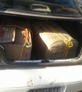 Traficantes de droga detenidos en la Frontera la Hachadura