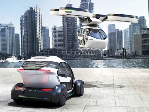 Airbus presenta su prototipo Pop.Up. El vehículo que revolucionará el transporte en el futuro