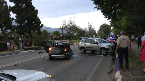 Múltiple accidente es provocado por conductor ebrio en Marbella