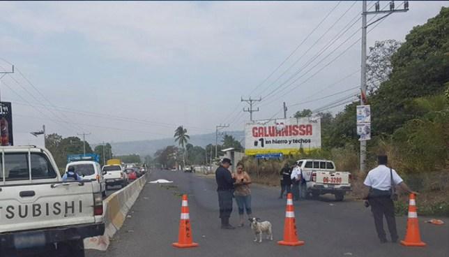 Atropellamiento en Sonsonate deja una mujer fallecida y una menor de edad lesionada