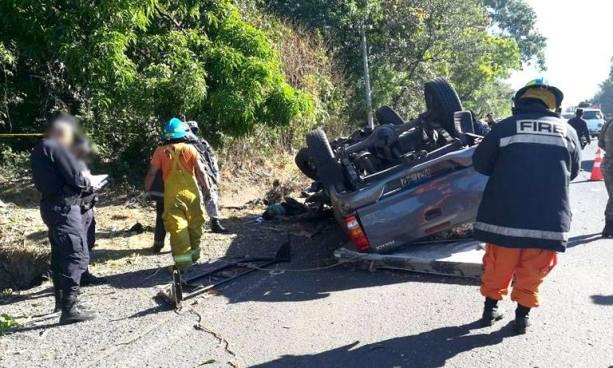 Accidente de tránsito en Sonsonate deja tres personas fallecidas