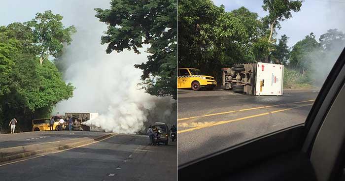 Al menos dos lesionados deja accidente de tránsito en carretera de San Miguel