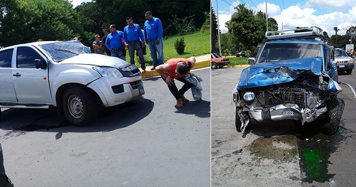 Tres personas lesionadas deja grave accidente de tránsito en carretera a Chalchuapa