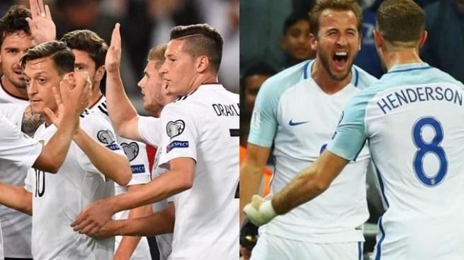 Alemania e Inglaterra sellan su boleto a Rusia 2018