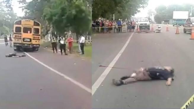Anciano muere tras ser atropellado por un bus en Sonsonate