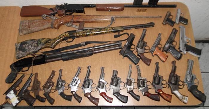 Más de 1,900 armas de fuego han sido decomisadas por la PNC en lo que va del año