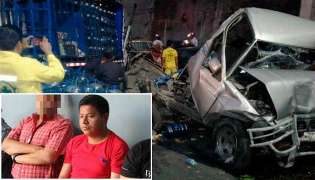 Conductor ebrio que mató a tres personas en San Salvador quedará detenido