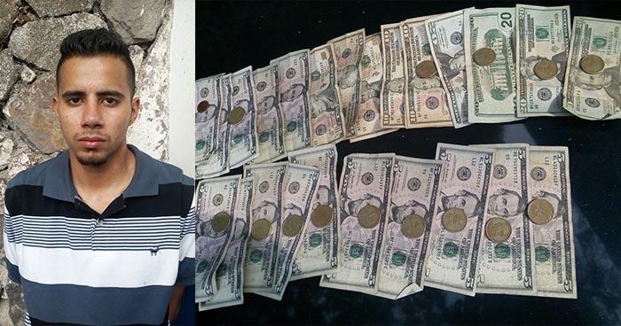 Capturan en San Salvador a pandillero que recogió cerca de $300 del pago de una extorsión