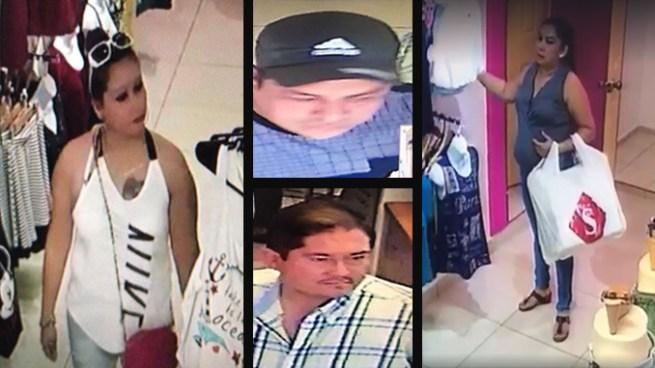 Banda de ladrones aprovechan descuido de trabajadores para robar en una tienda de ropa en San Miguel