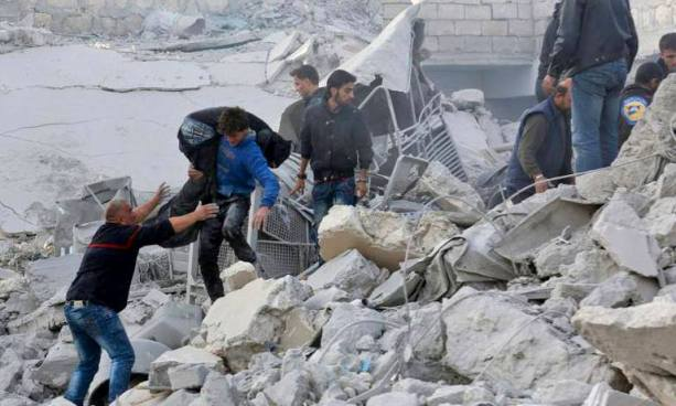 Al menos 19 muertos por bombardeos aéreos en una localidad de Siria