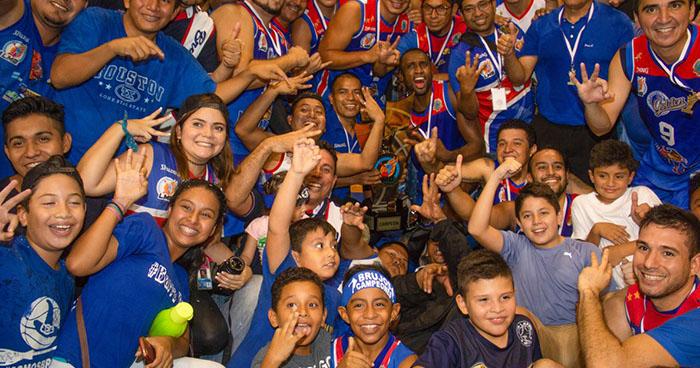 Brujos de Izalco se coronan campeones del baloncesto nacional