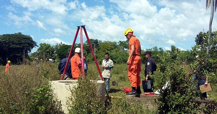Localizan el cadáver de una persona al interior de un pozo en Santa Elena, Usulután