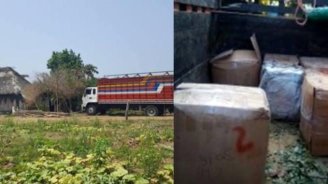 Policía incauta camión de encomiendas en Jujutla, Ahuachapán
