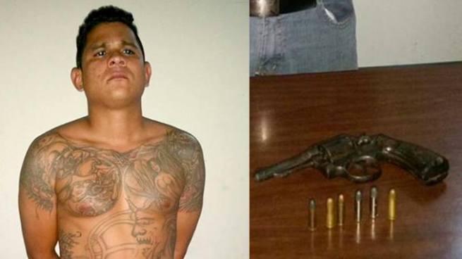 Tras una persecución capturan a pandillero armado en San Salvador