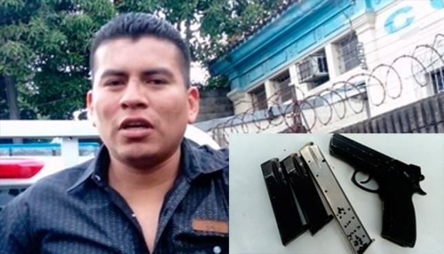 Sujeto ebrio y armado es capturado por la policía en San Salvador